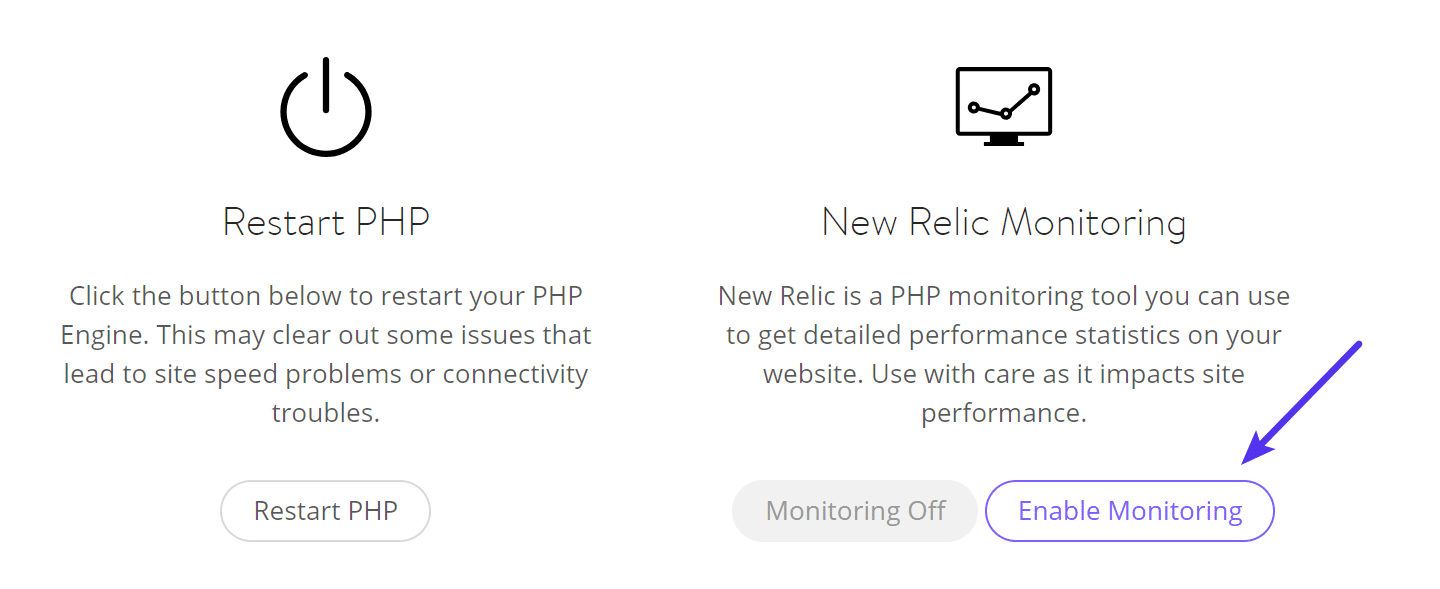 Enable New Relic monitoring