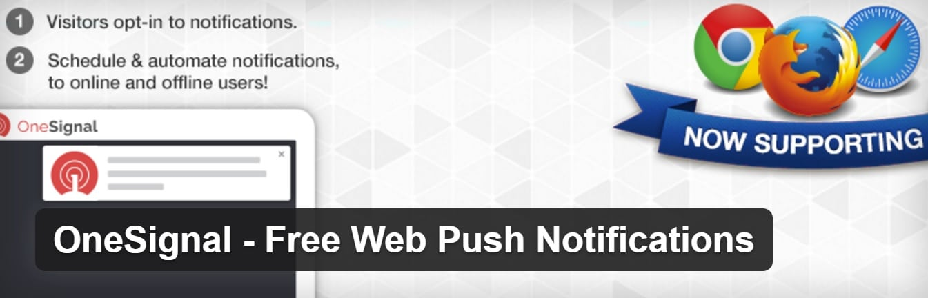 onesignal web push notifications plugin