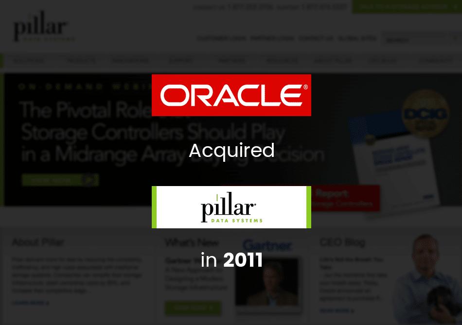 oracle acquires pillar