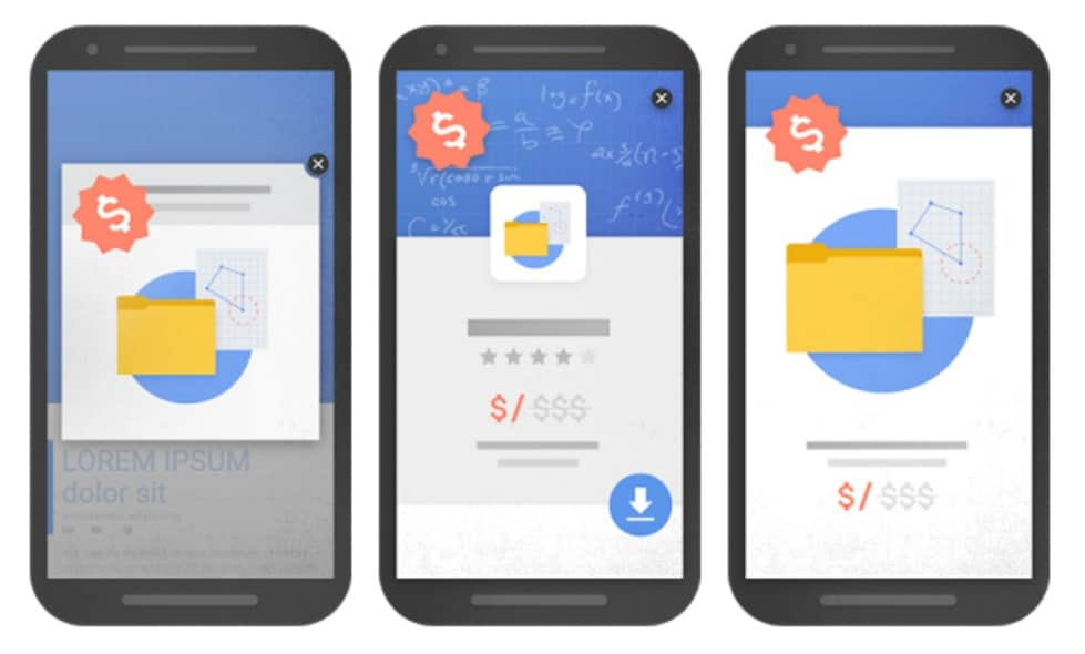 google popup penalty examples