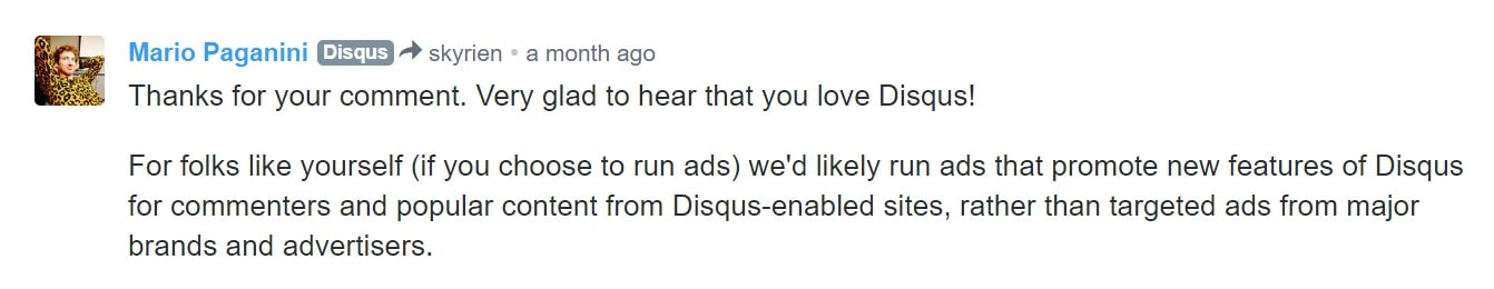disqus ads features
