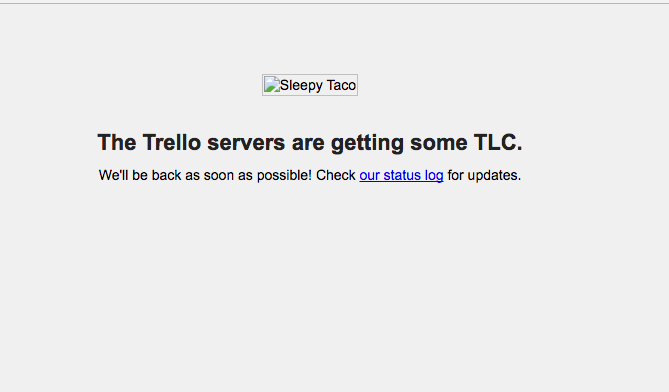 trello downtime