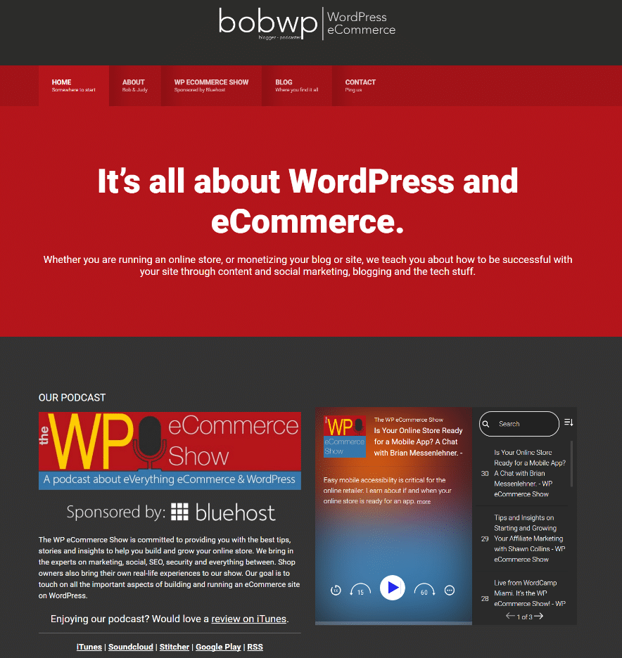 bobwp wordpress website