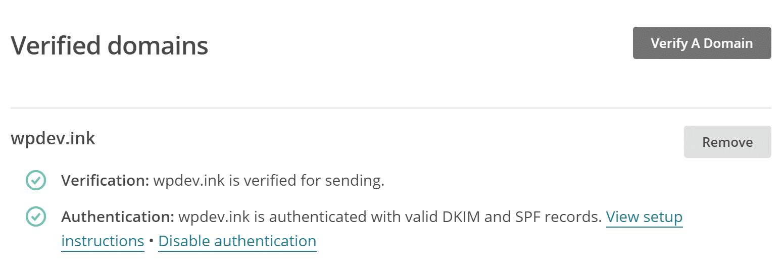 verified domains