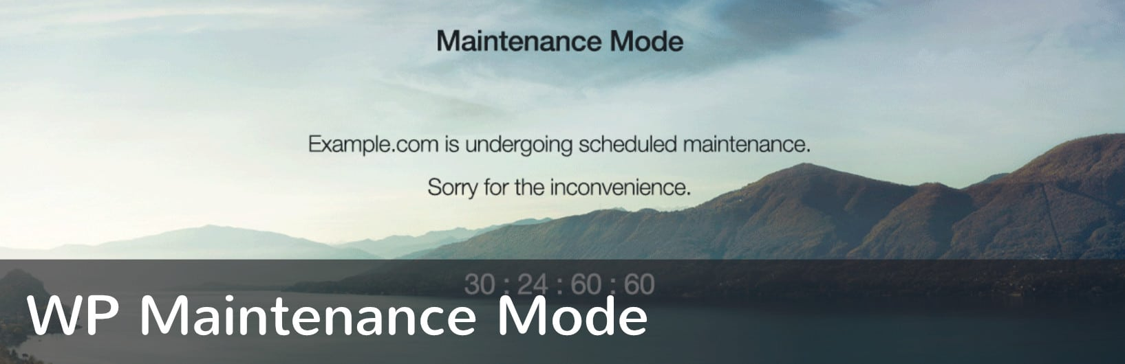 WP Maintenance Mode WordPress plugin