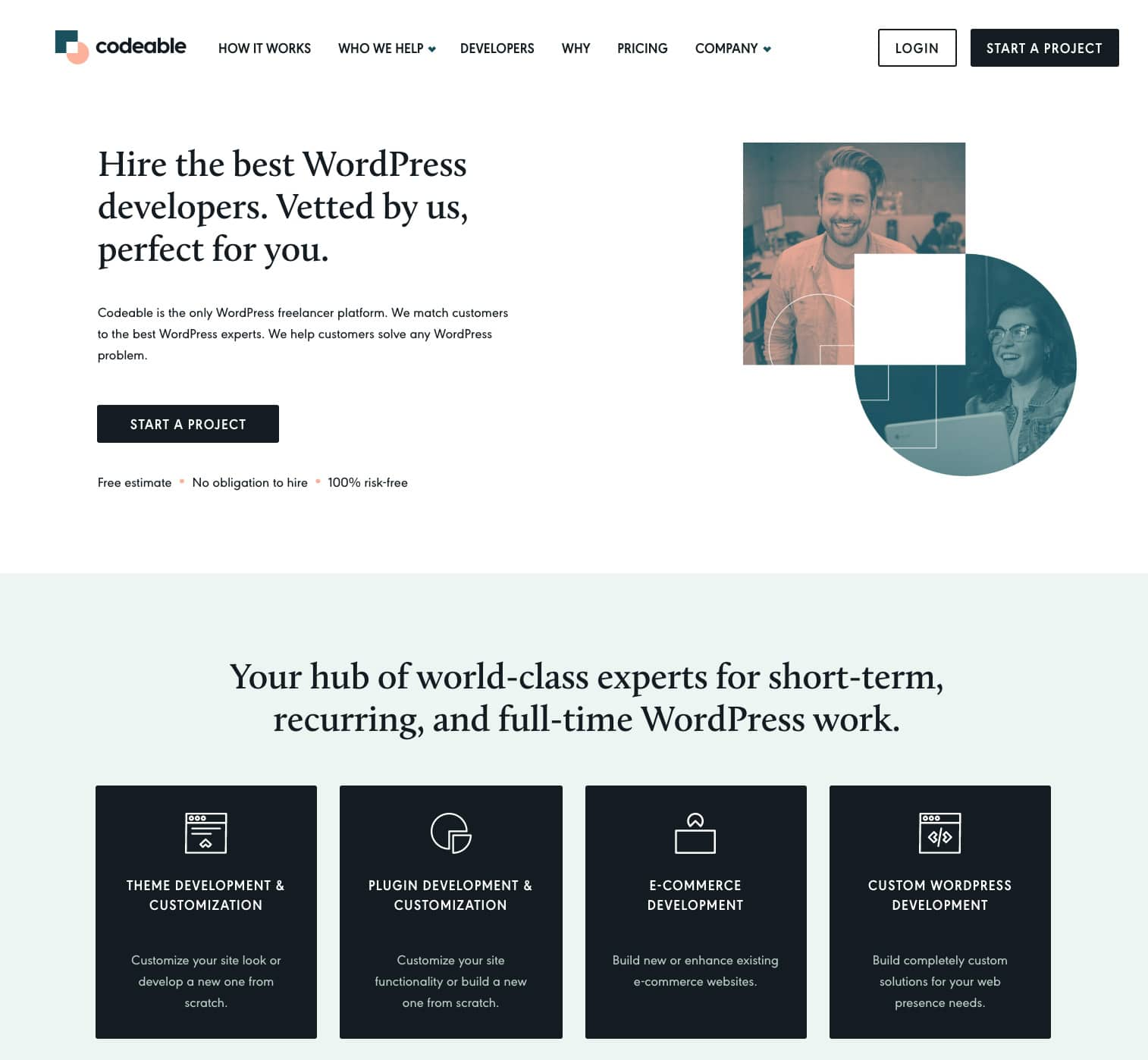 Codeable - Outsourcing service to find WordPress experts