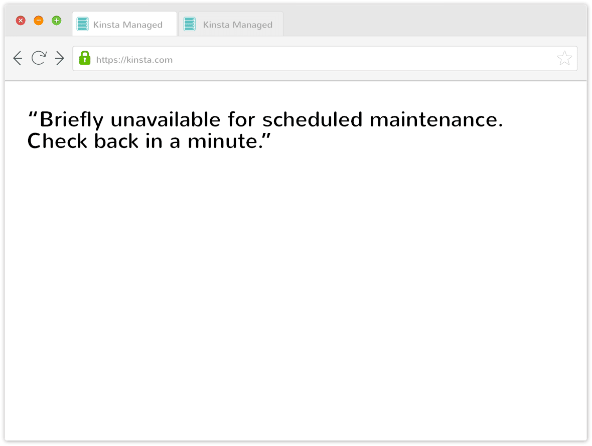 wordpress briefly unavailable message