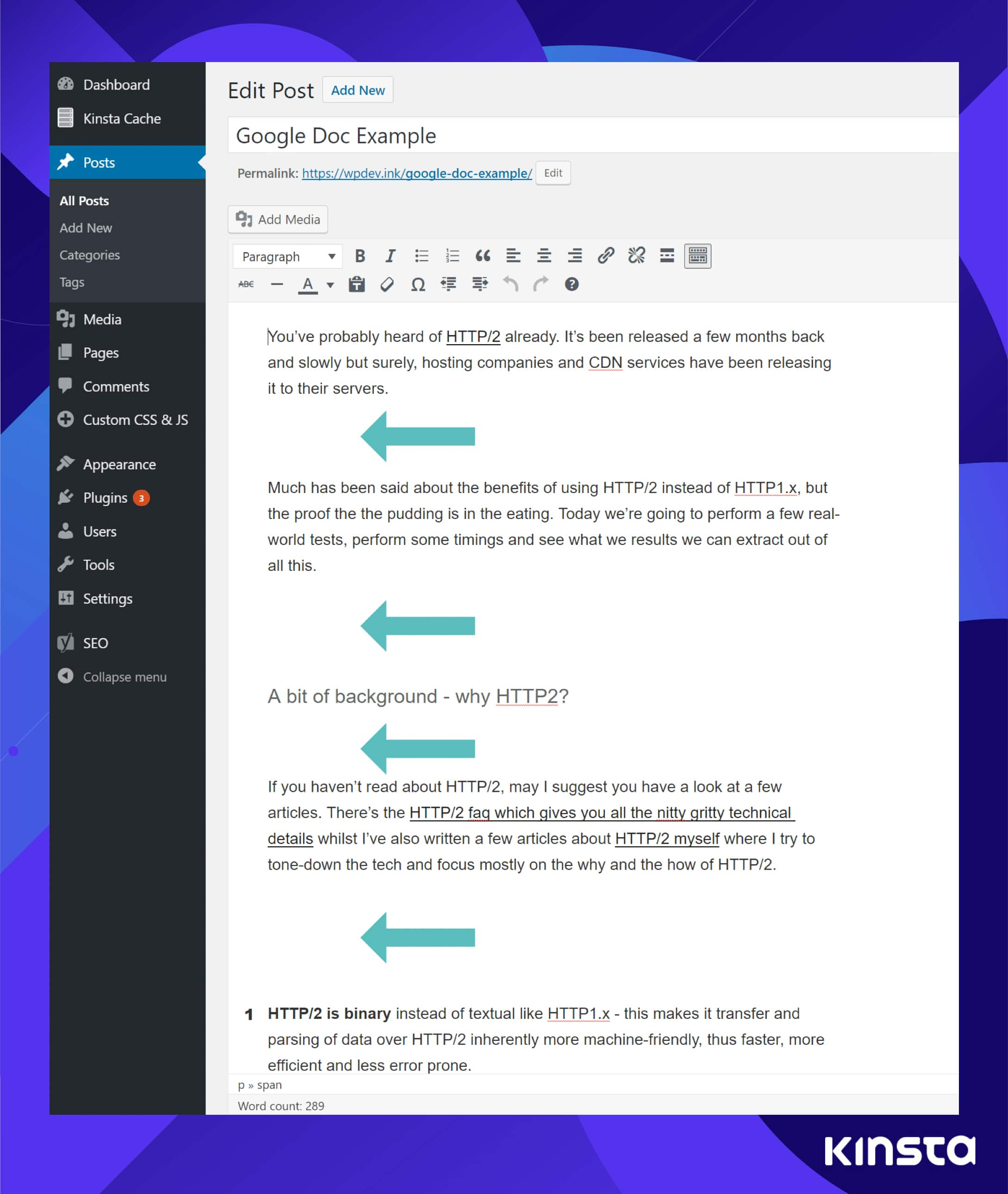 Google Docs to WordPress spacing issue