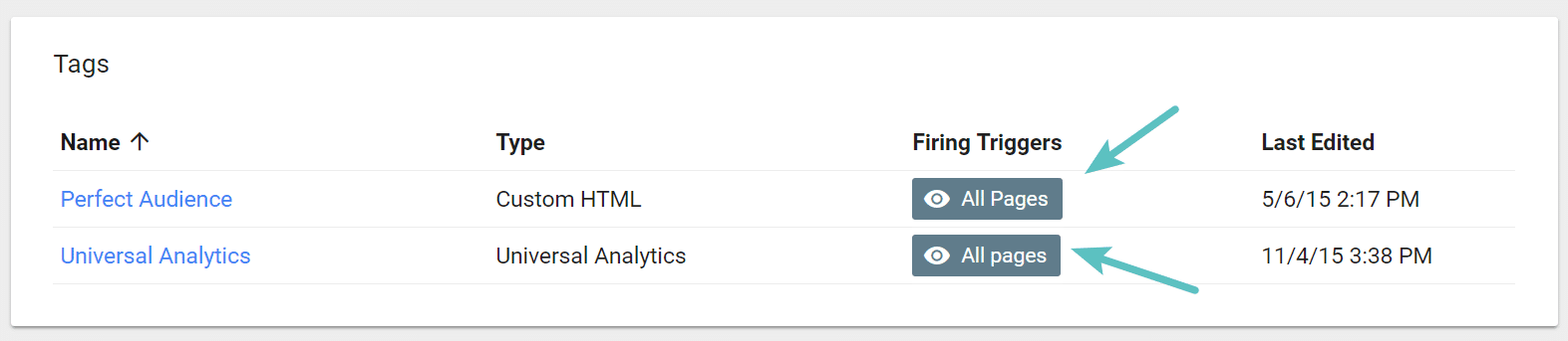 Google Tag Manager firing triggers