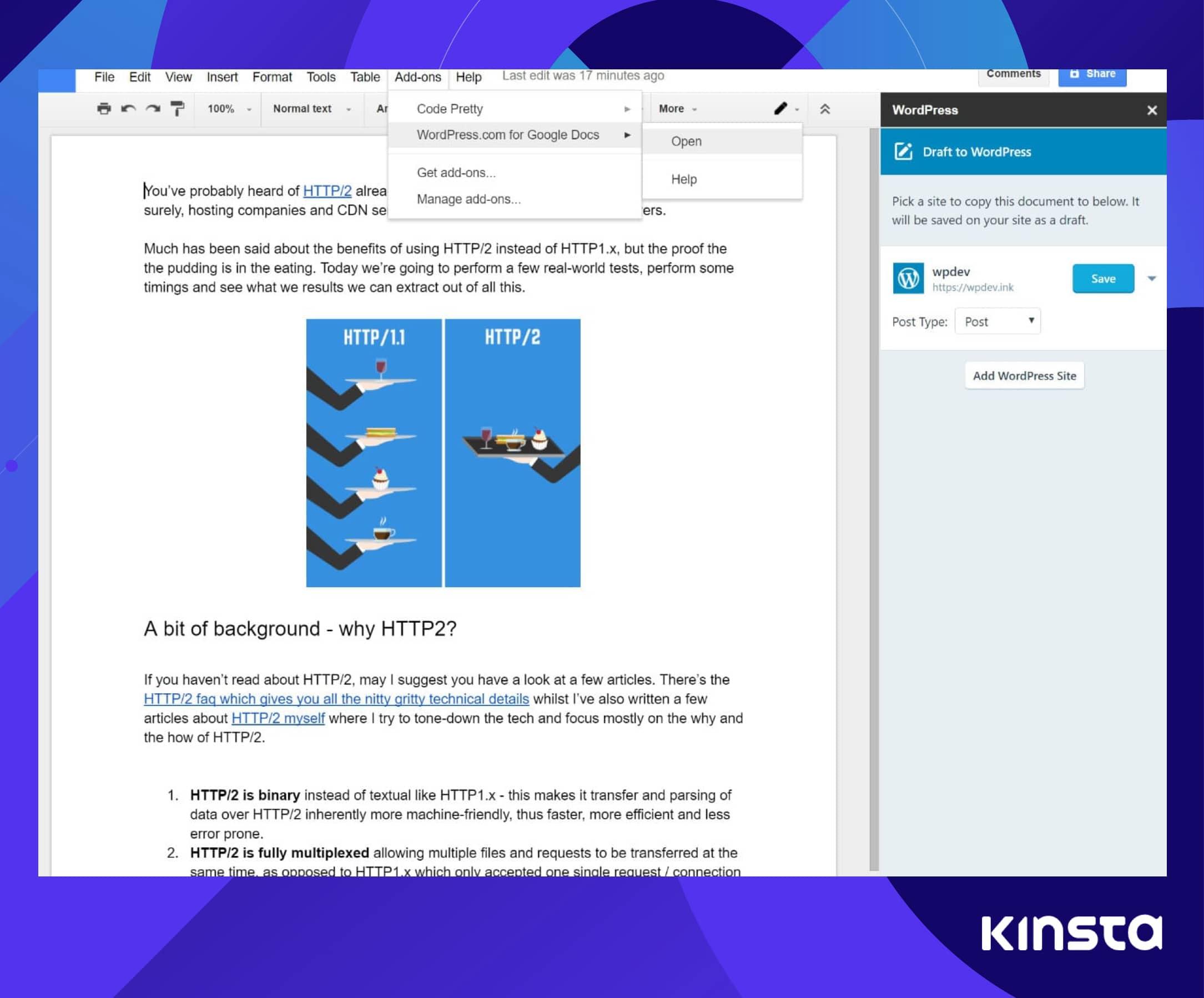 Export Google Docs to WordPress with Jetpack