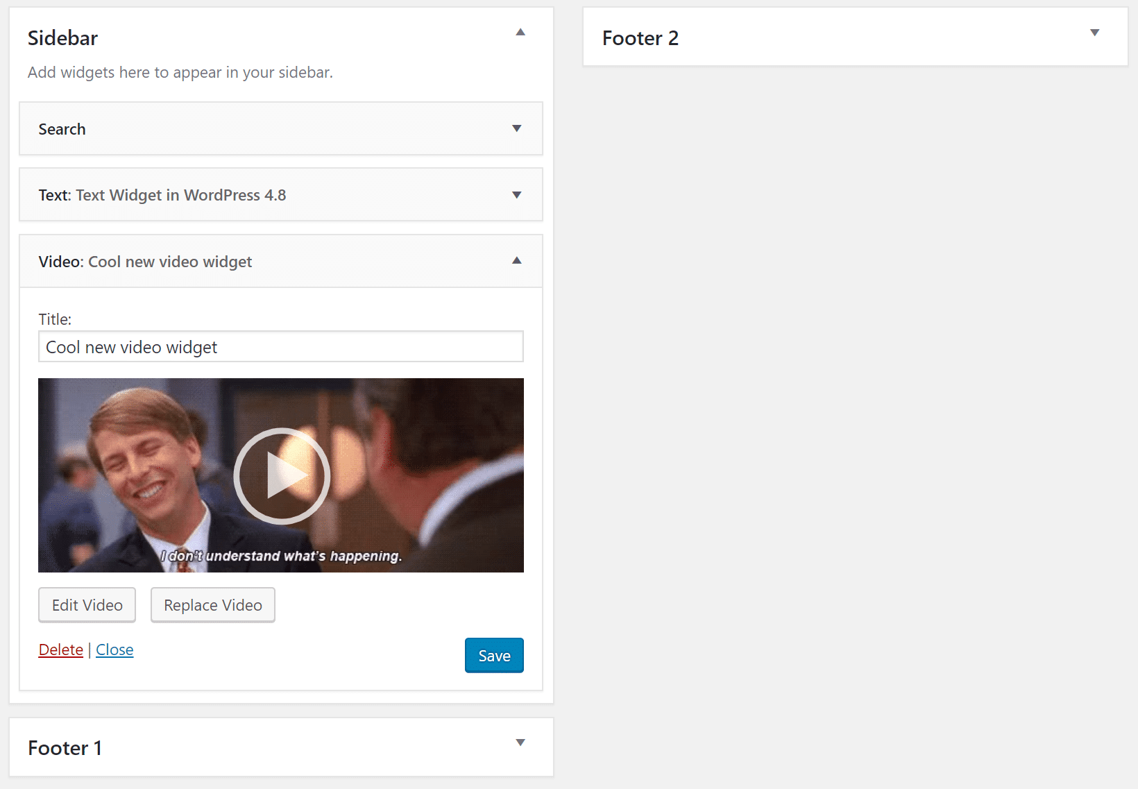 wordpress 4.8 video widget