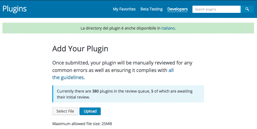 Add your plugin