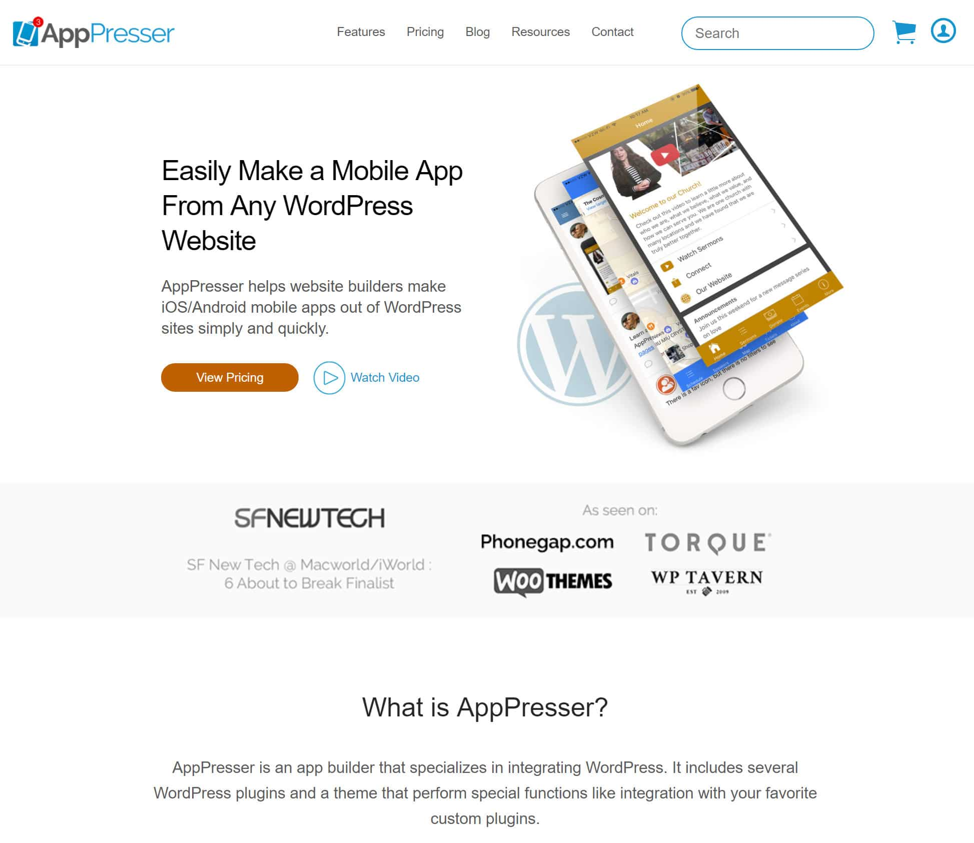 AppPresser website