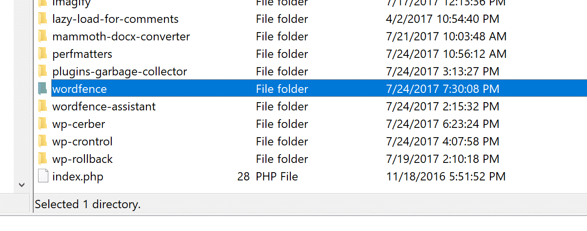 Delete plugin via FTP