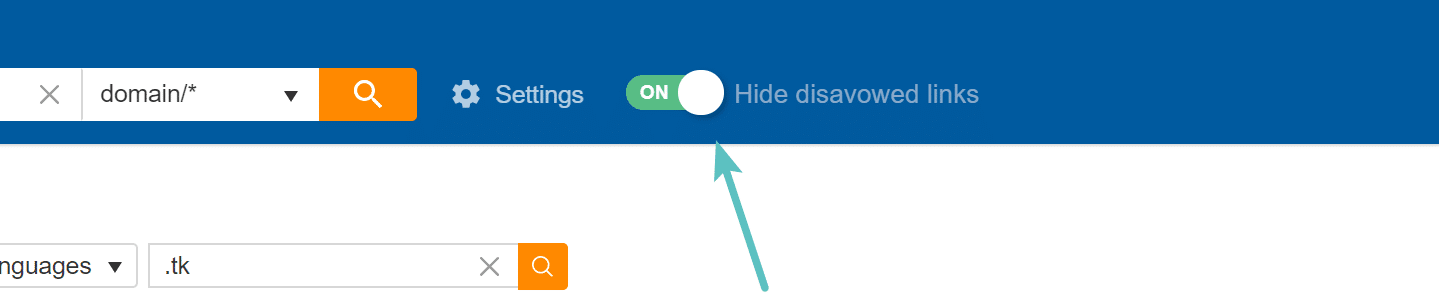 Hide disavowed links in Ahrefs