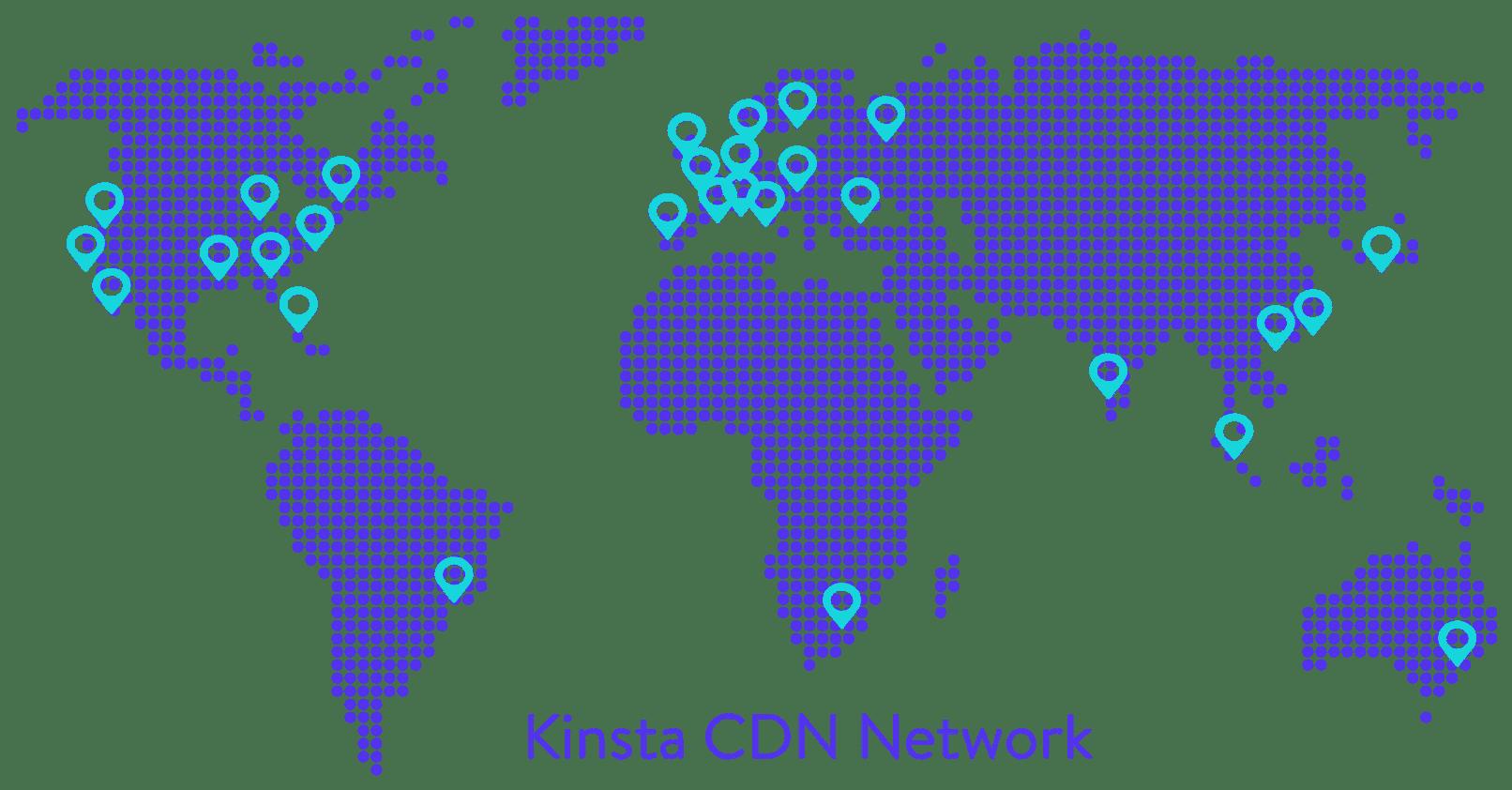 Kinsta CDN network