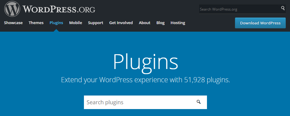 The official WordPress.org plugin directory
