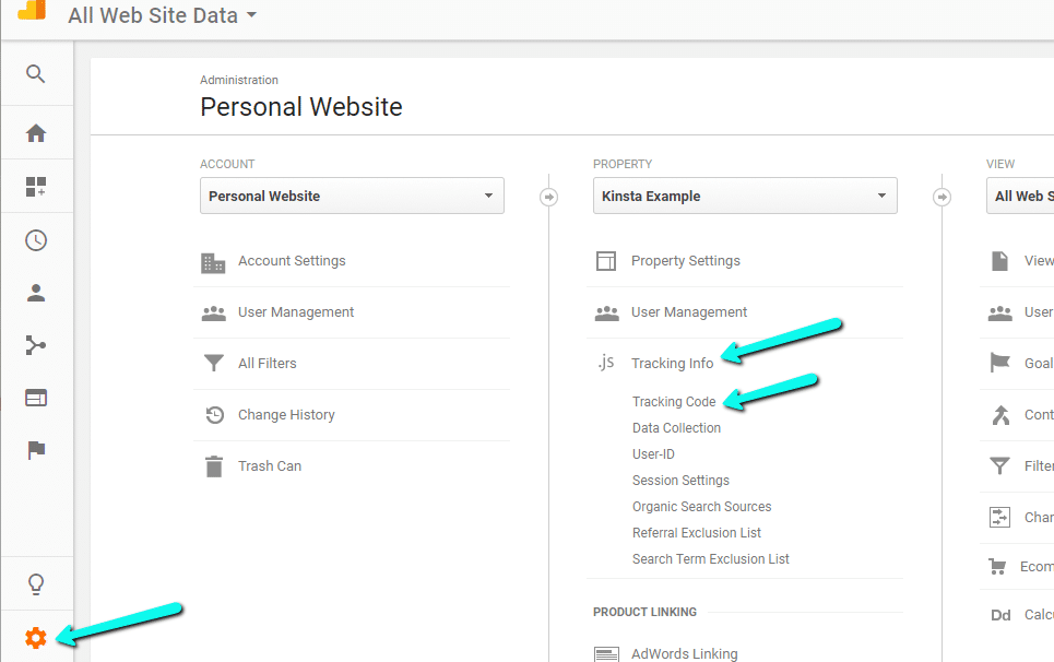 How to find Google Analytics Tracking ID