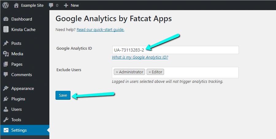 Adicione o Google Analytics ao WordPress com o Google Analytics Cat
