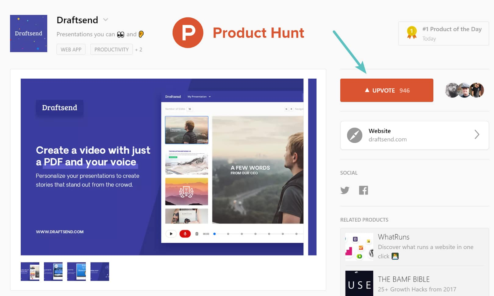 Launching product on Product Hunt