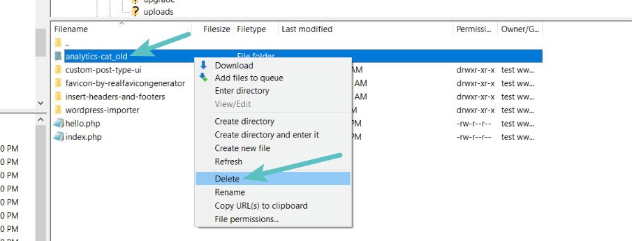 Delete old folder