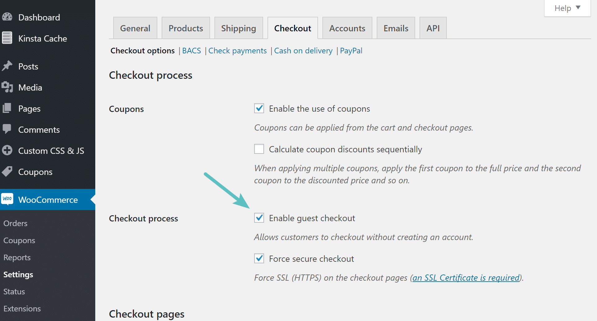 Enable guest checkout in WooCommerce