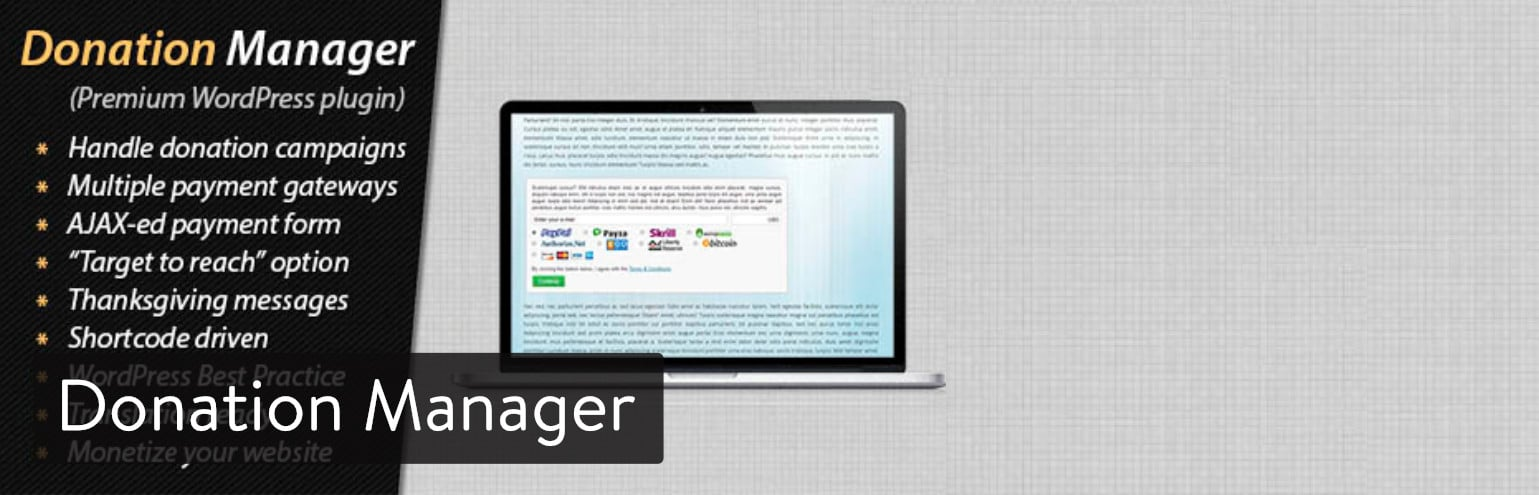 Donation Manager WordPress plugin