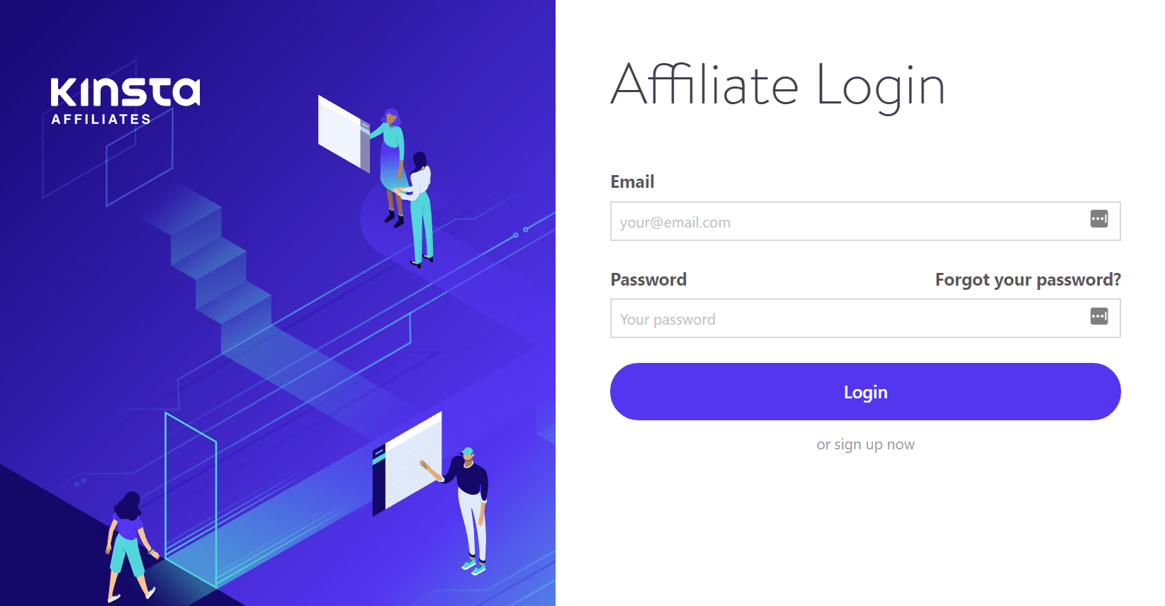 Login - Kinsta affiliate program
