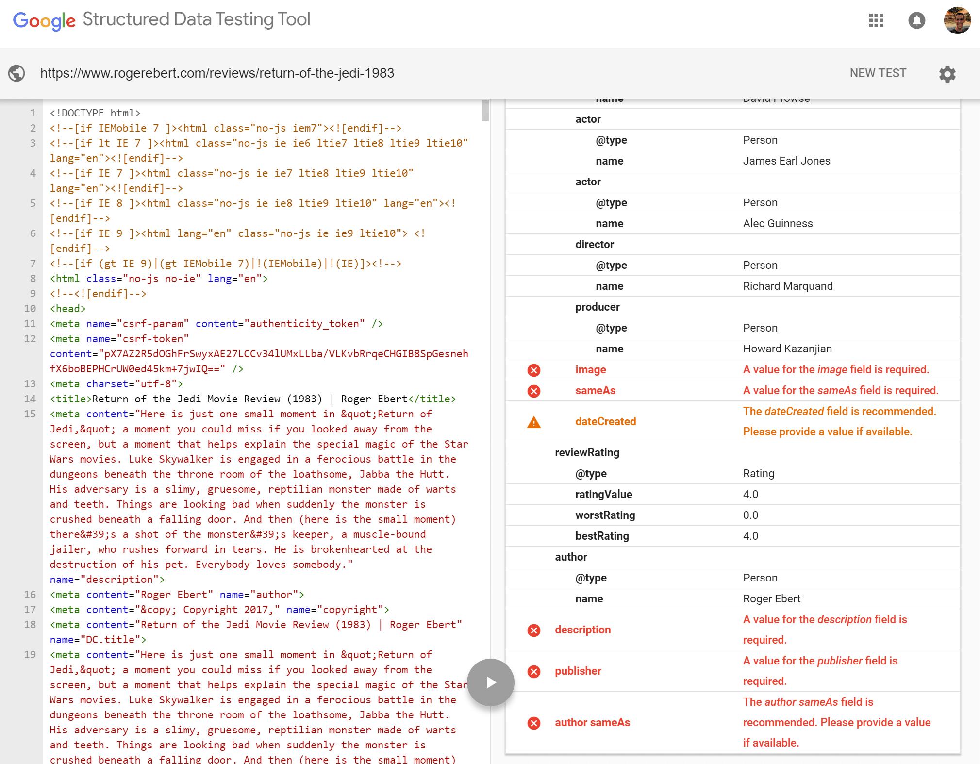 Schema errors