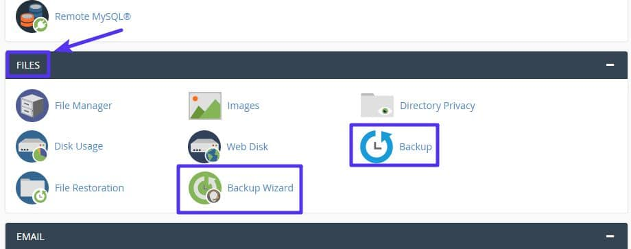 How to back up your site with cPanel