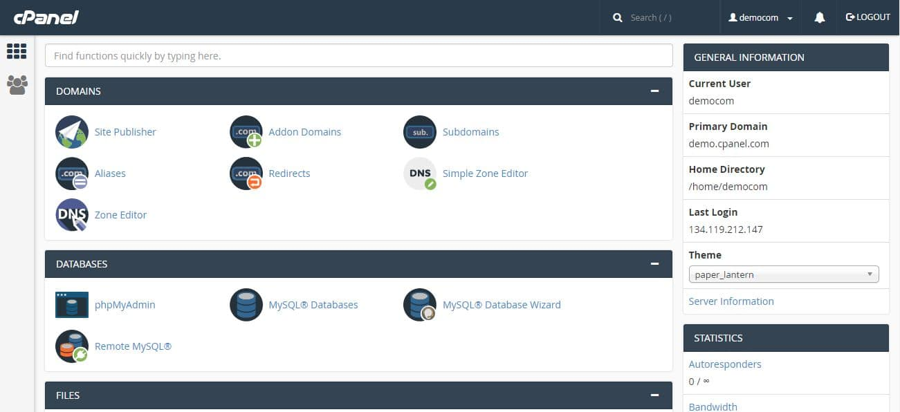 what is cPanel? A look at the dashboard