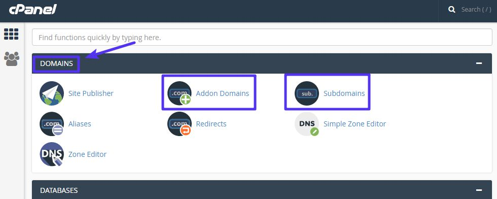 How to add a domain or subdomain with cPanel