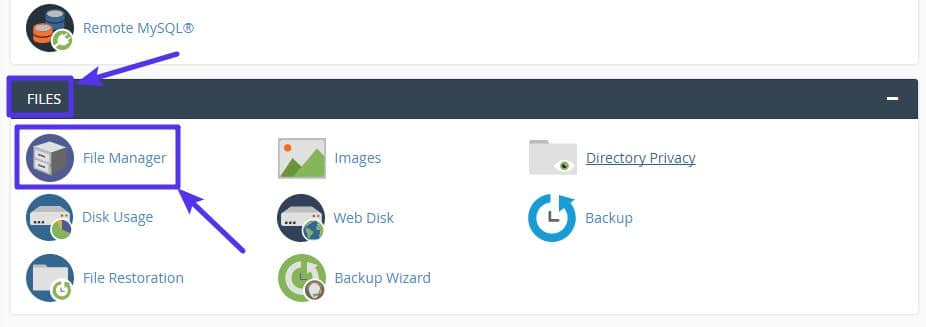 How to access cPanel File Manager