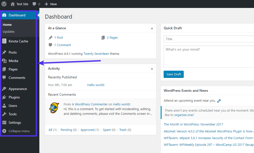 f53ade89233 What Is the WordPress Admin Dashboard? (Overview and Tips)