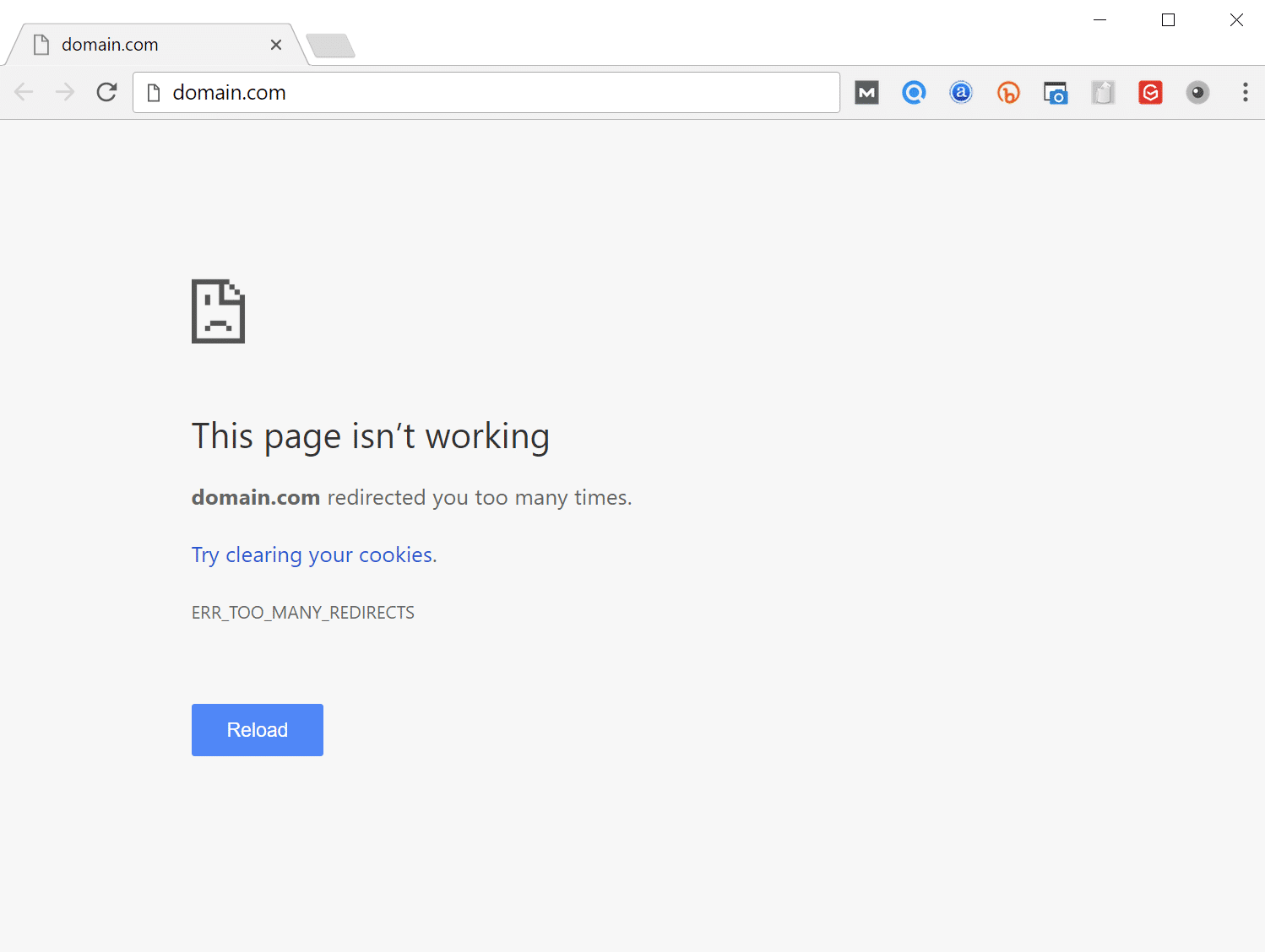 err_too_many_redirects fix android