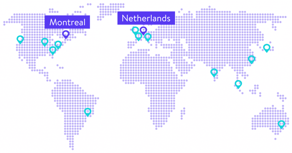kinsta data centers map