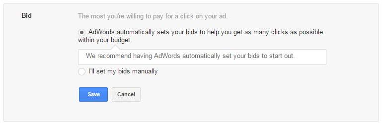 Google AdWords bids