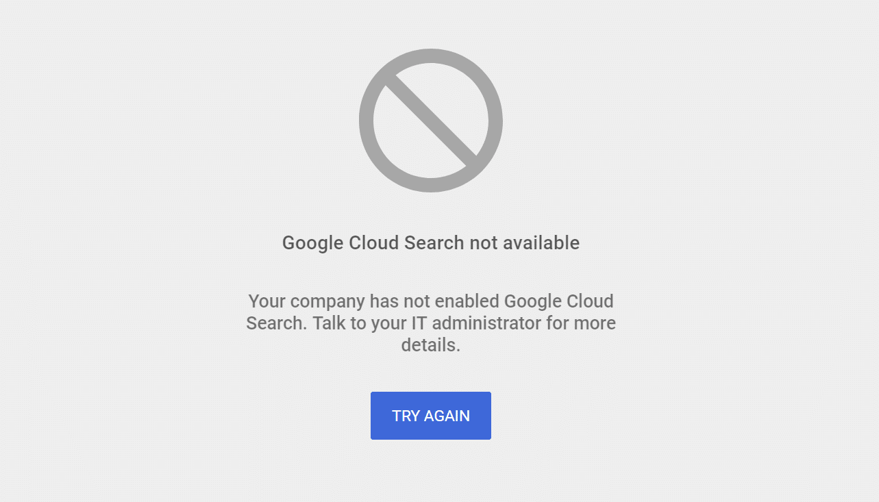 G Suite not available