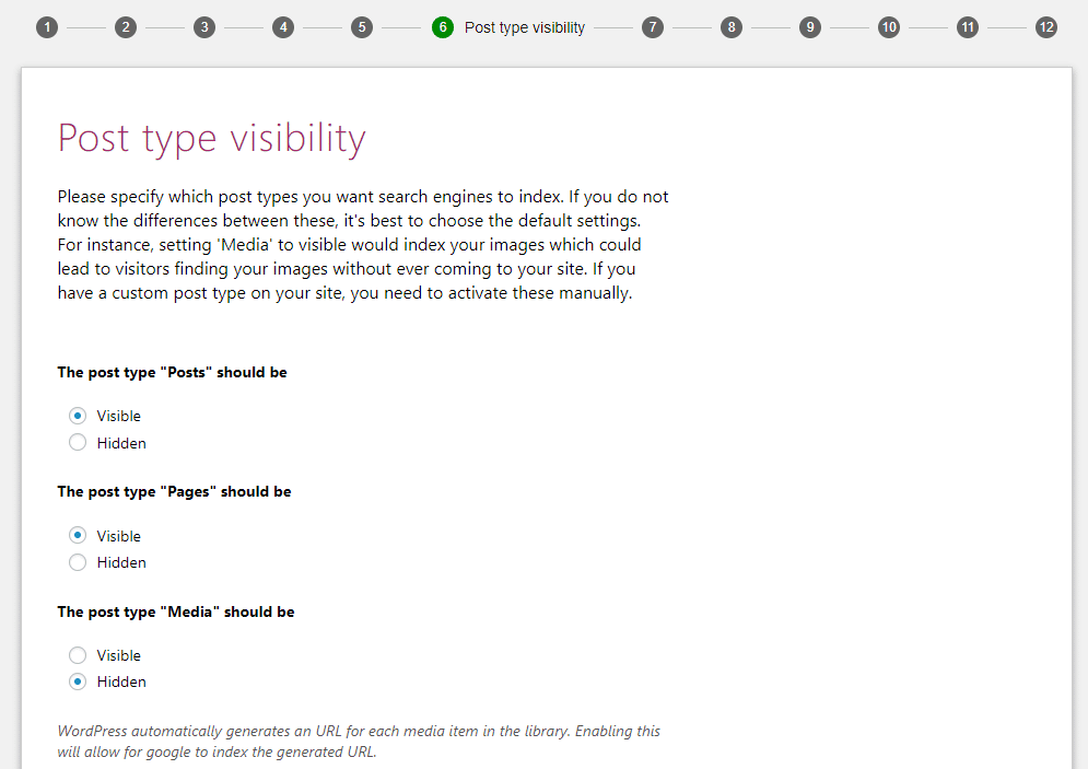 Post type visibility