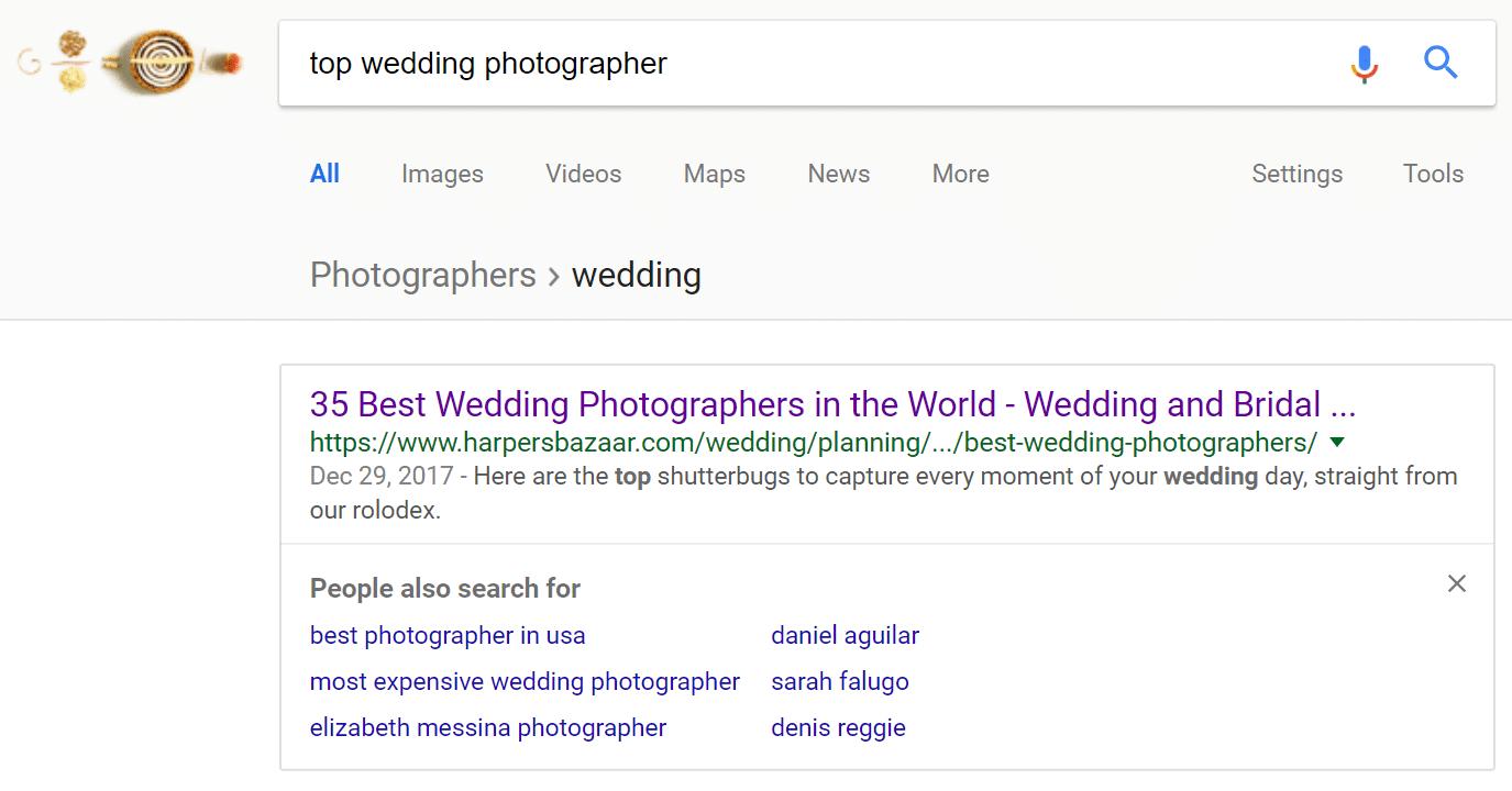 検索結果画面での競合