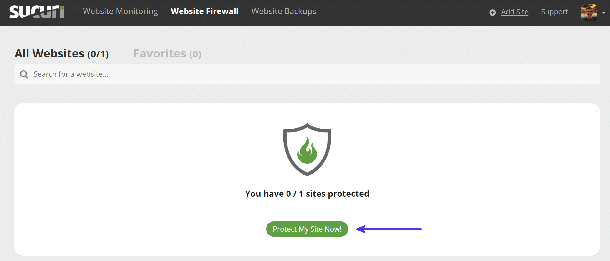 Sucuri protect my site