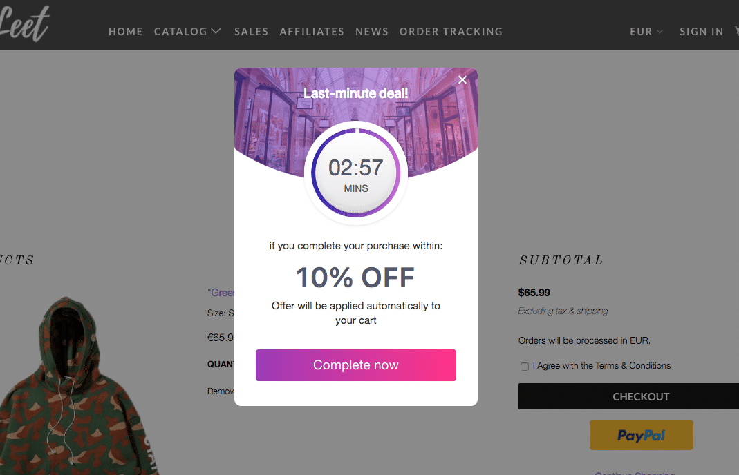 WooCommerce countdown timer