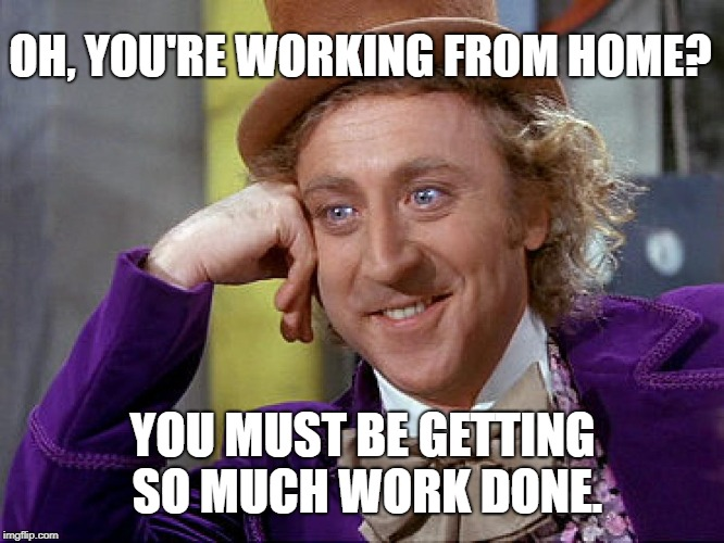 Afleiding bij thuiswerken