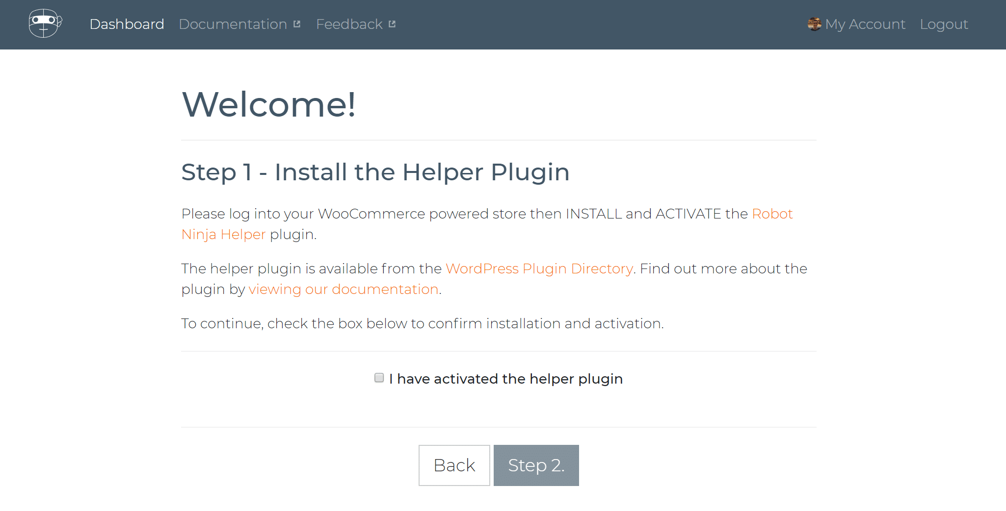 Robot Ninja WordPress plugin