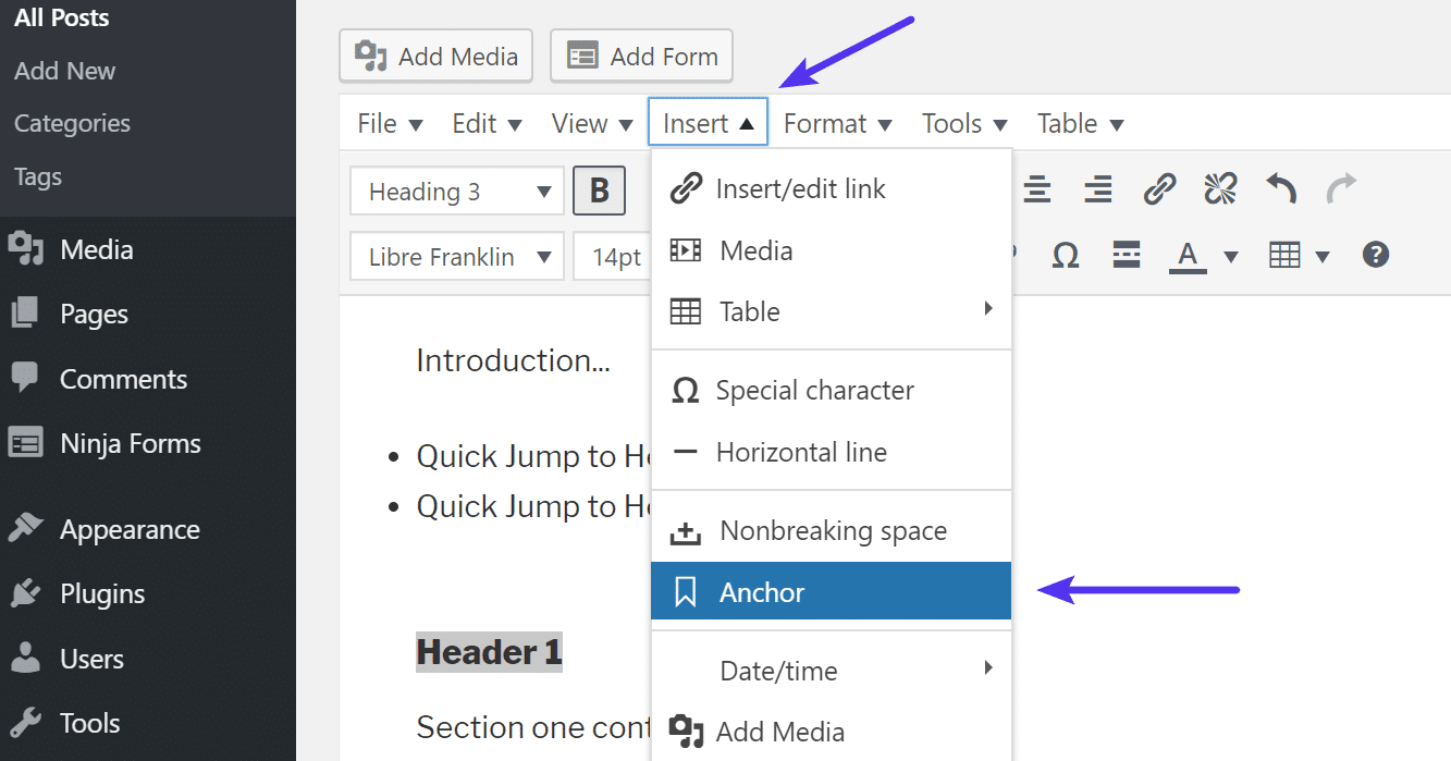 How to Create Anchor Links in WordPress (4 Easy Methods)