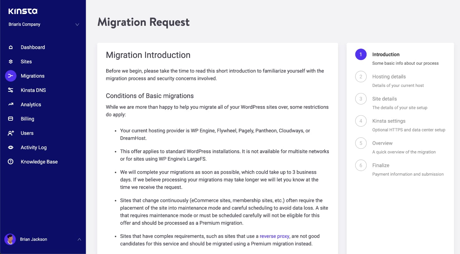 Basic migration introduction