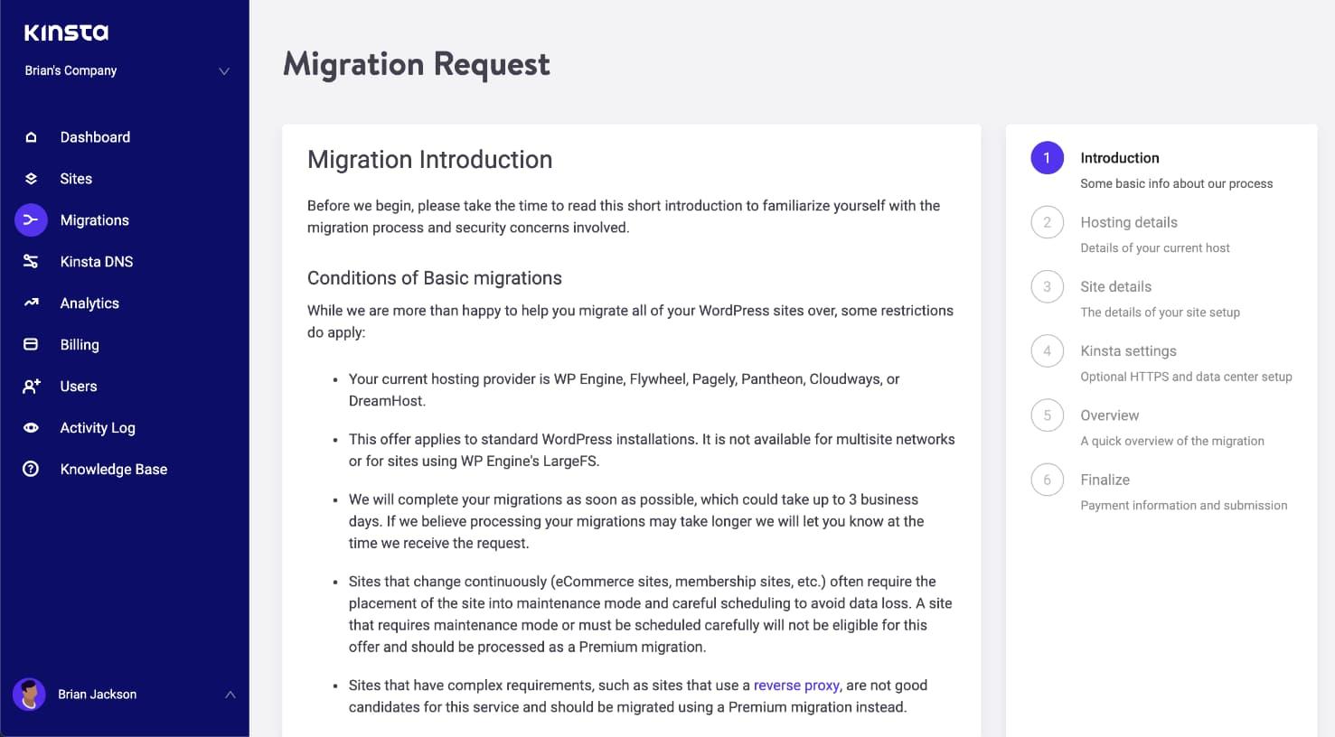 Formulario de solicitud de migración