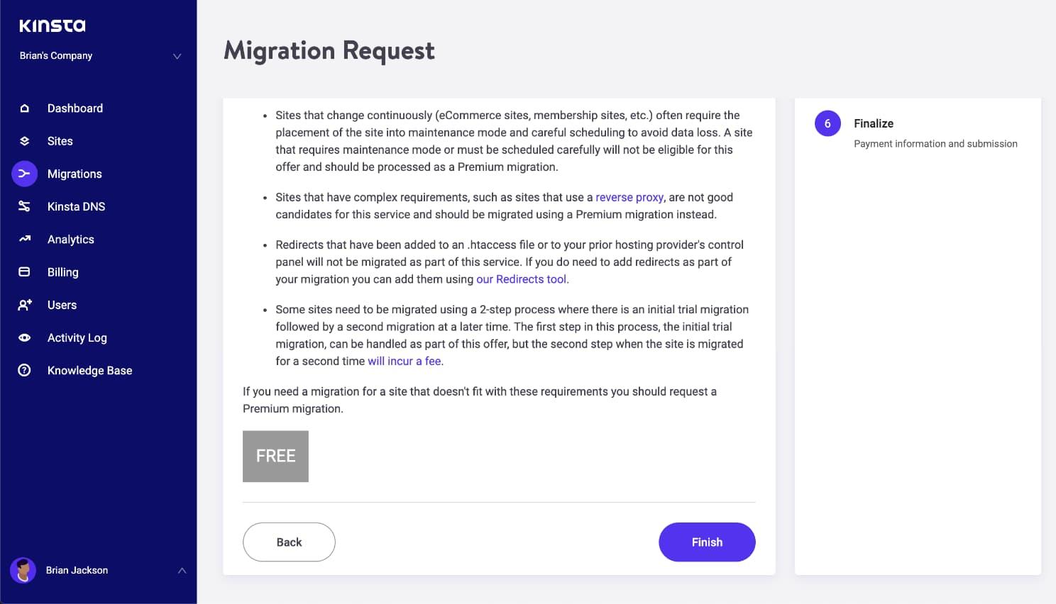 Finaliser la migration basique