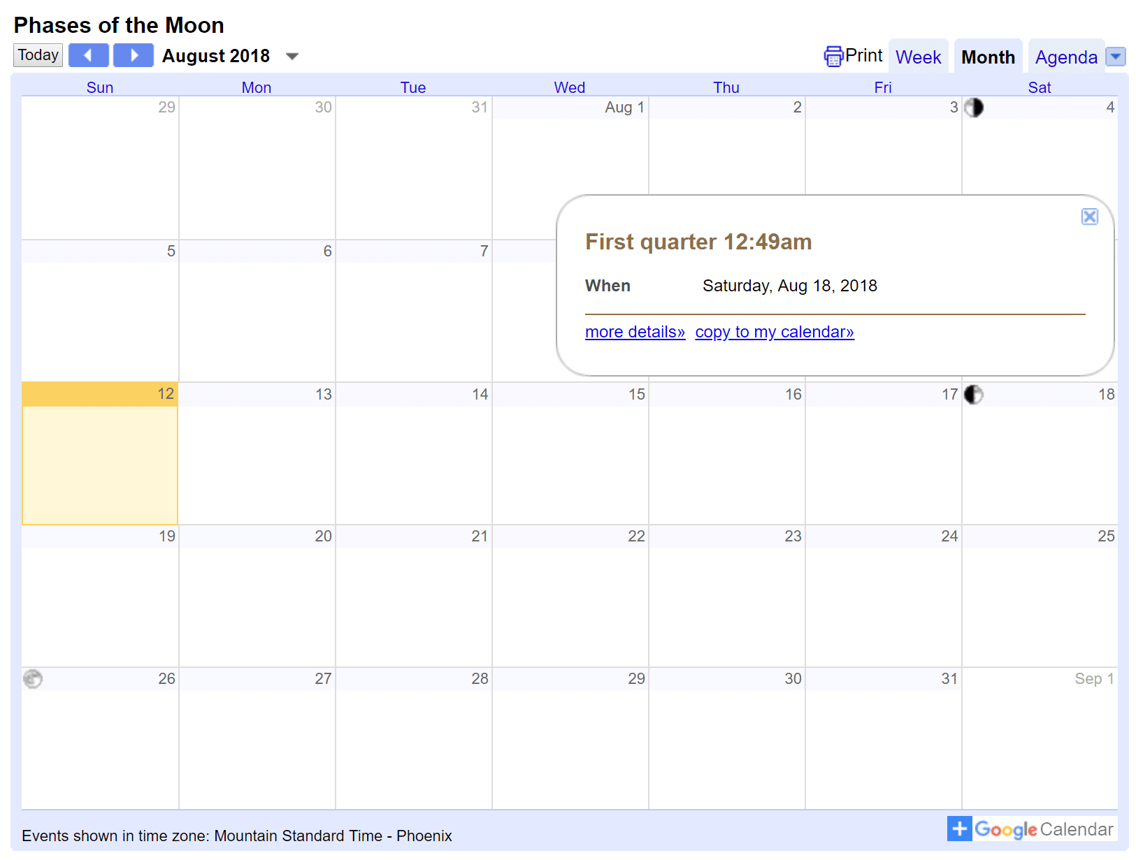 Google calendar embed on WordPress site