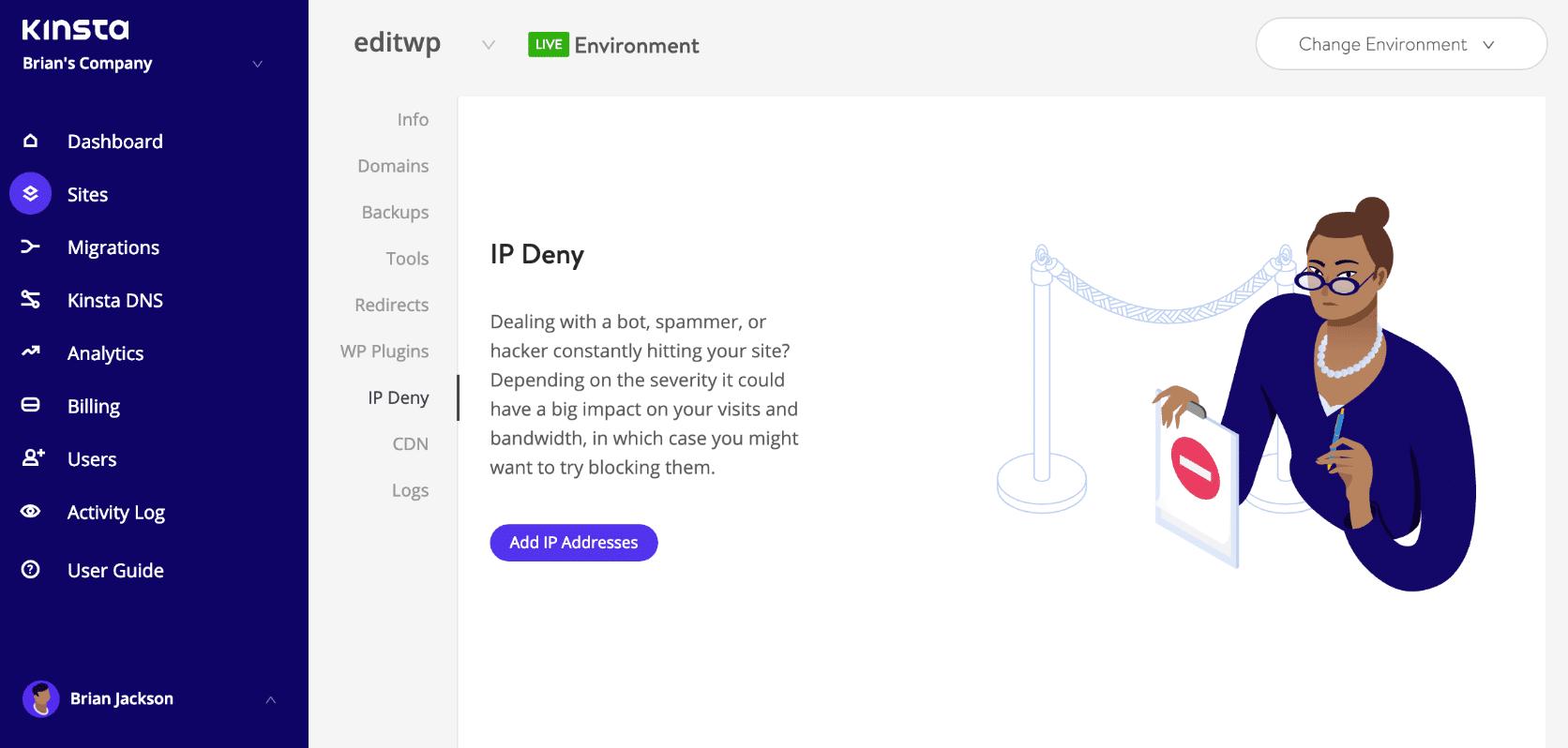 IP Deny tool